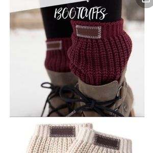 Love Your Melon boot cuffs in Black. NWT